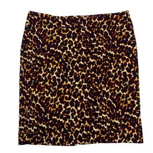 Merona Stretch Animal Print Pencil Skirt 14